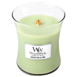 woodwick Candela green tea & lime